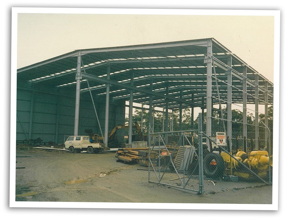 New Workshop construction behind the existing Gateshead facilities