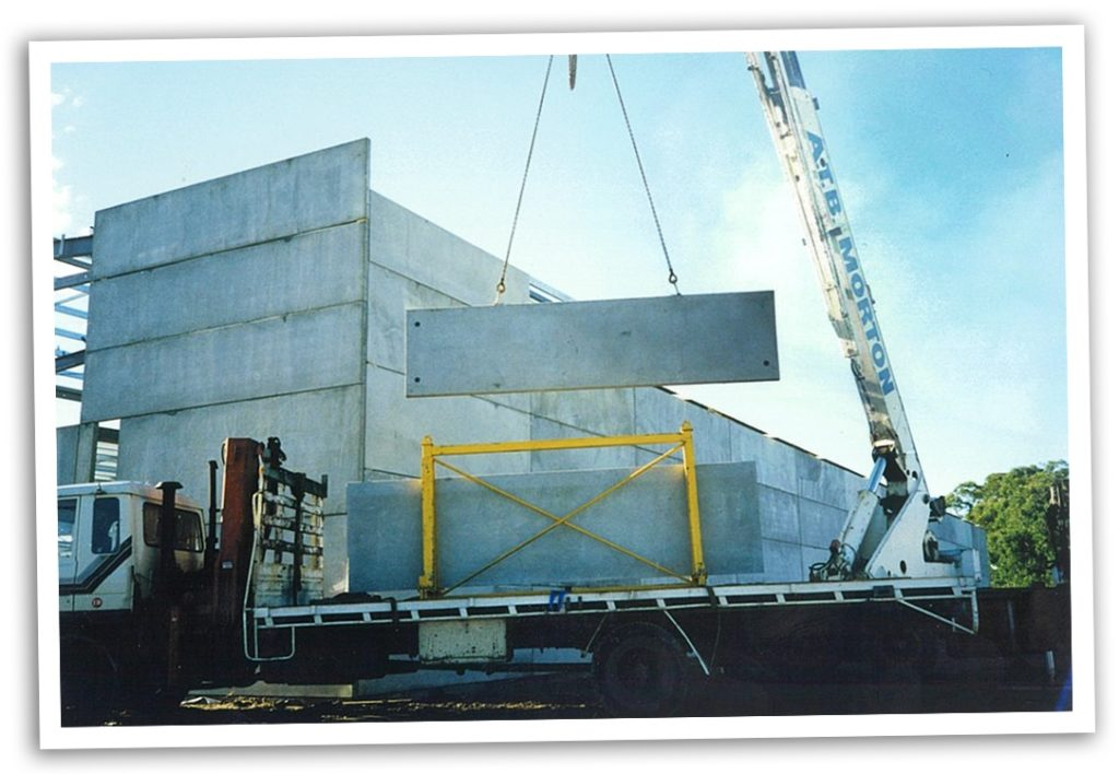 Some of the first precast panels manufactured by ATB Morton, now known as CIA Precast and Steel