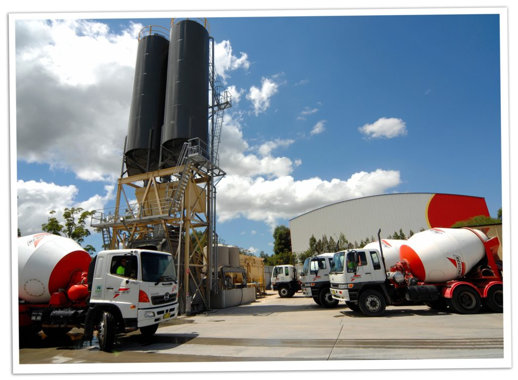 The first of what would become 3 Redicrete Concrete Batching Plants